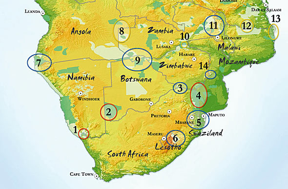 Southern African Development Community (SADC) Trans-Frontier Parks.