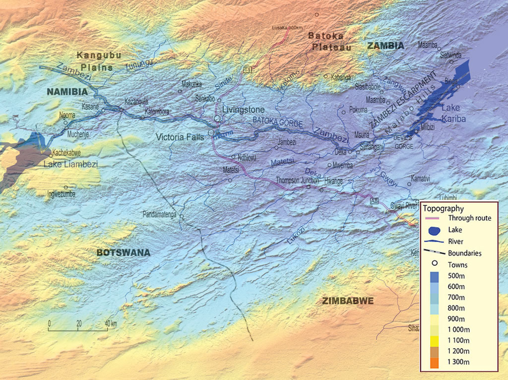 Seasonal Climate Maps of Victoria Falls Rainfall and Temperature