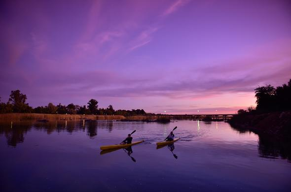 canoeing the Orange River in the Northern Cape.
