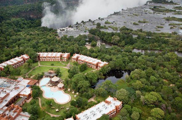 Arial view of Victoria Falls.