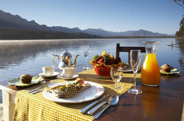 Enjoy breakfast with an amazing view of the Wellington countryside.