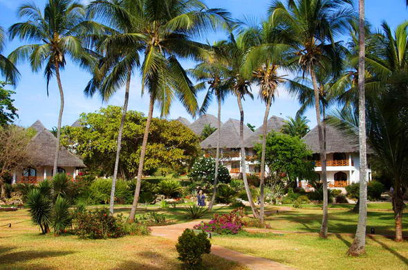 Bluebay Beach Resort has beautiful gardens.