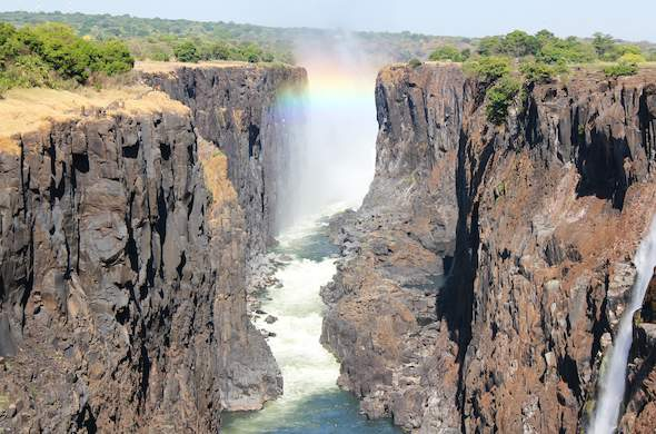 Both sides of Victoria Falls