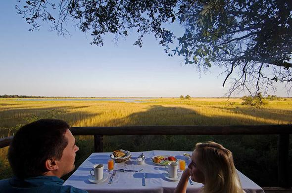 Breakfast with a View at Camp Moremi