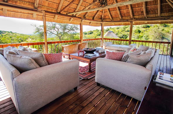 Relax on the cosy lounge deck.