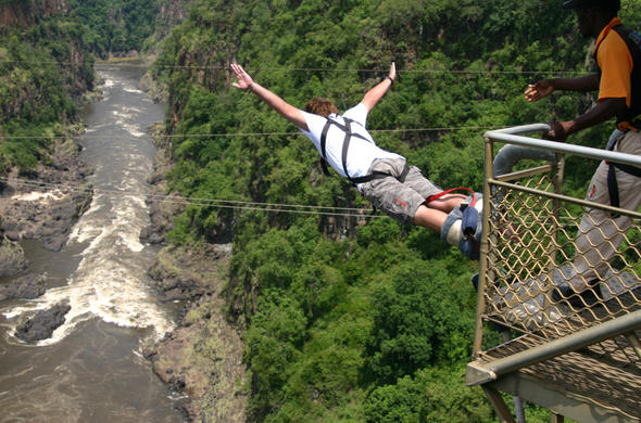 Bungee Jump in Victoria Falls.