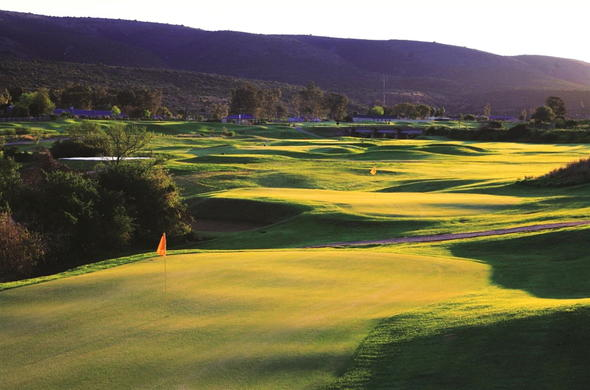 Golf course at Bushman Sands Country Hotel.