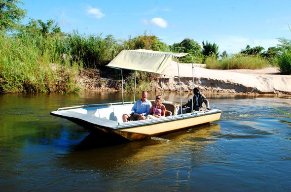 Scenic safari along the Caprivi Strip in Namibia.