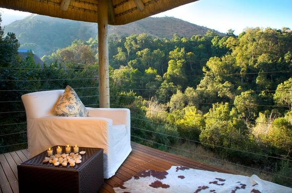 Relax on the viewing deck at Cavern Drakensberg Resort & Spa.