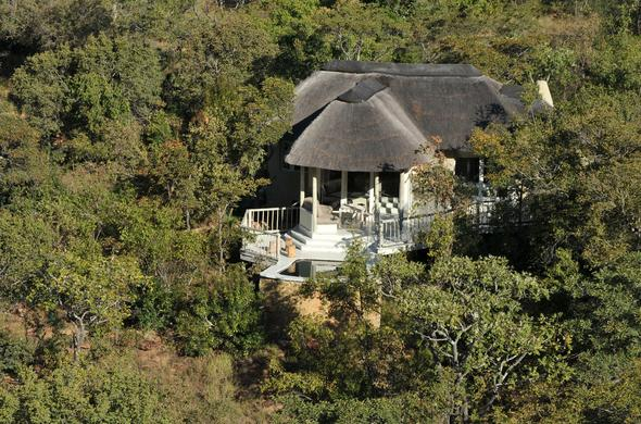 Aerial view of Clifftop Exclusive Safari Hideaway.