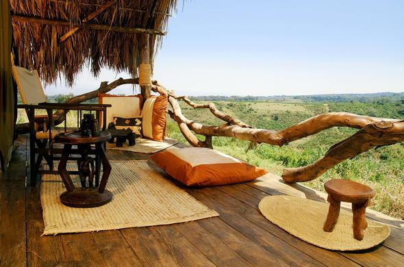 Relax on the veranda with scenic views of Ngorongoro Highlands.