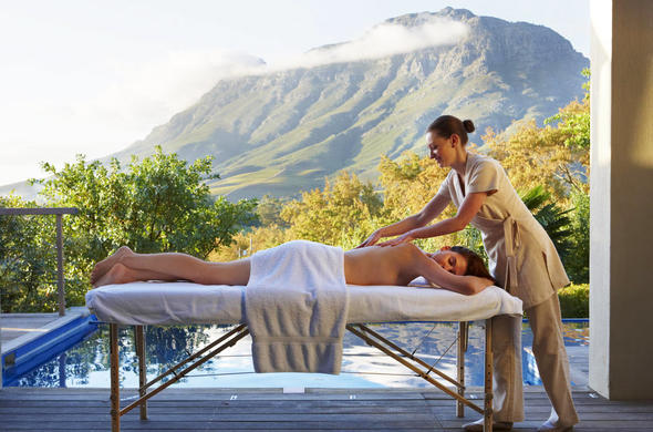 Delaire Graff Spa in the Cape Winelands.