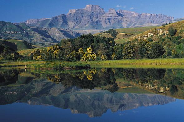 Scenic Drakensberg Mountains.