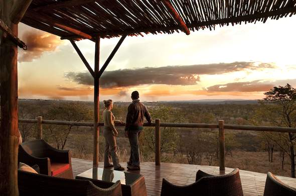 Enjoy a romantic sunset in Zimbabwe with your beloved.