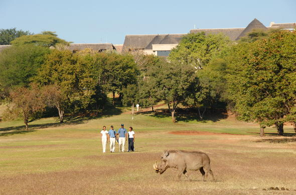 The most dramatic golf course in Africa.