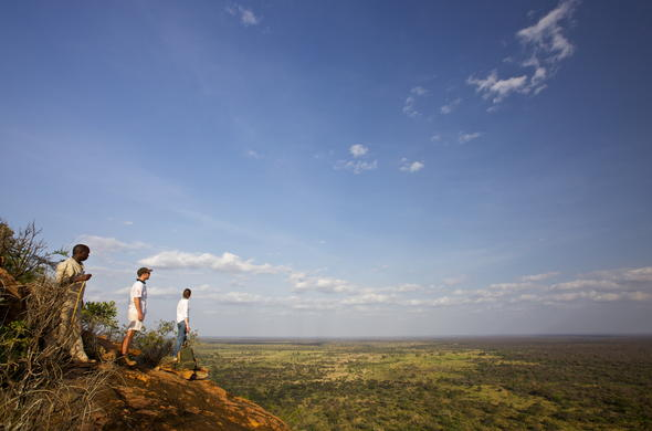 Guests overlooking the Meru National Park.