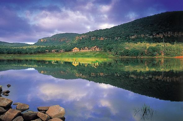 Spectacular mountain and lake views in the Entabeni Wildlife Conservancy.