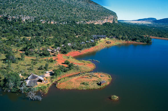 View of Lakeside Lodge in Entabeni Game Reserve.