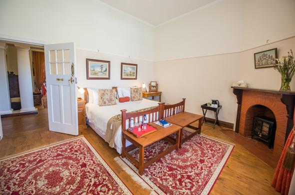 Inside the cosy bedrooms offered in Robertso Wine Valley.