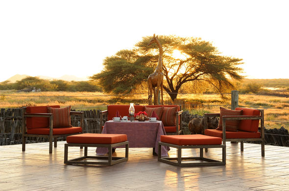 Witness the sunset in Otjiwarongo at Frans Indongo Lodge.