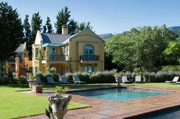 Exterior and Pool area at Franschhoek Country House & Villas.