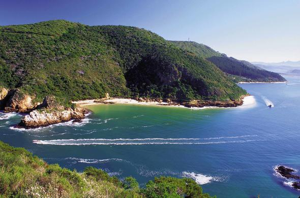 Spectacular coastal view of the Garden Route.