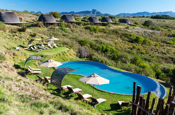 Stunning view of the pool at Gondwana Game Reserve.