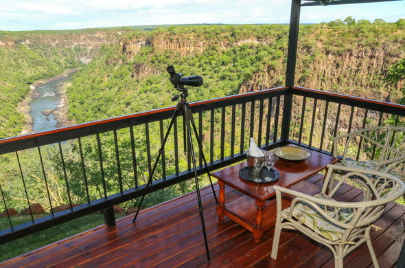 Relax with scenic views from Gorges Lodge.