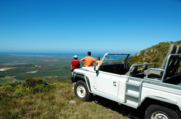 View of Grootbos Nature Reserve.