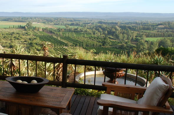 Relax on the veranda at Hitgeheim Country Lodge and Eco Reserve.