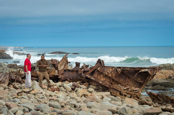 Skeleton Coast ship wreck.