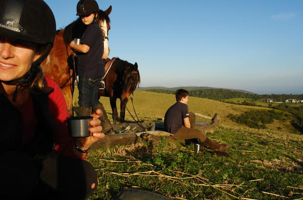 Horseriding for kids at Hog Hollow Country Lodge.