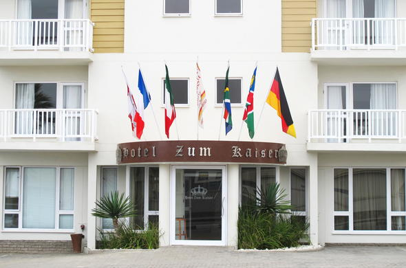 Entrance to Hotel Zum Kaiser in Swakopmund.