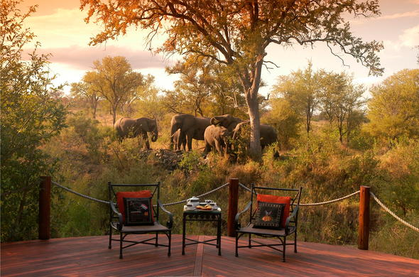 View from your private deck at Hoyo Hoyo. Kruger Park