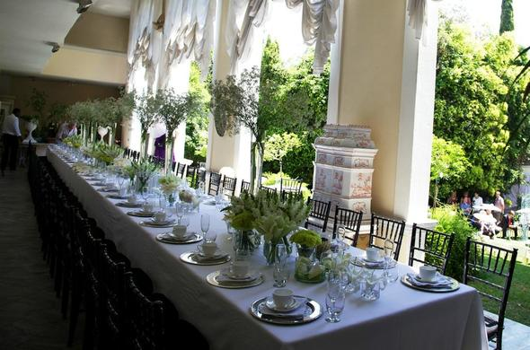 Illyria House wedding reception.
