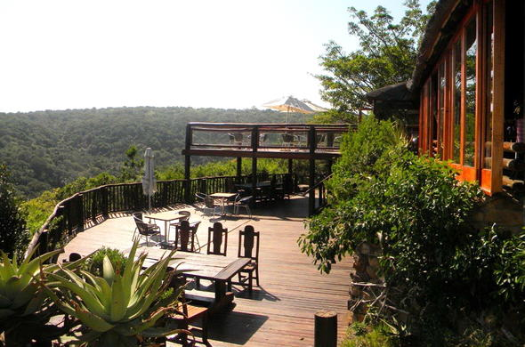 Stunning views of the Inkwenkwezi Private Game Reserve from the deck.