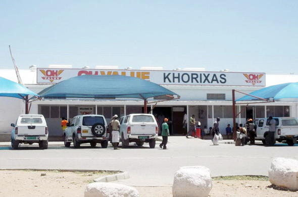 Khorixas small town shop.