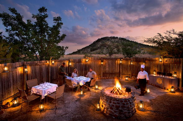 Boma area for a open-air dinner.