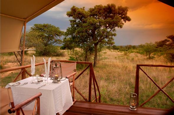 Kwafubesi Tented Camp offers a great hideaway for couples.