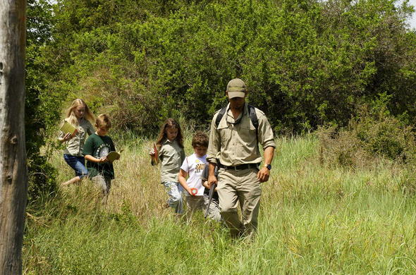 Kwandwe Game Reserve children on a walking safari.