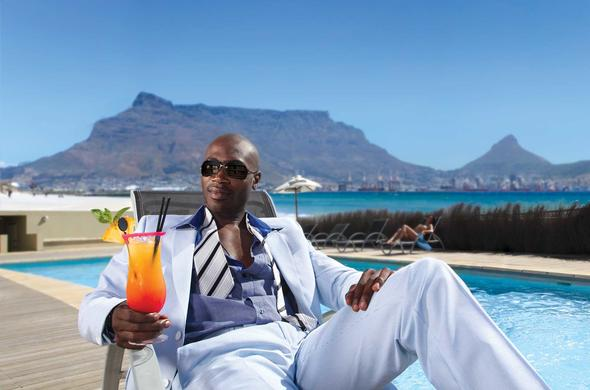 Business leisure travel at Lagoon Beach in Cape Town.