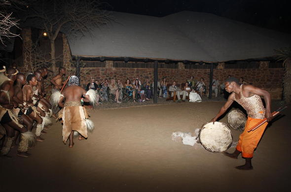Leopard Mountain Game Lodge cultural dancer entertainment.