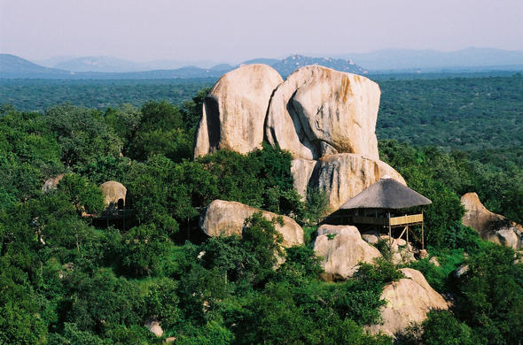 Exterior of Manyatta Rock Camp.