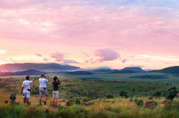 Welgevonden Private Game Reserve sunset.