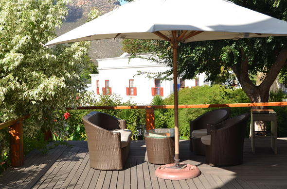 Enjoy drinks on the pation with stunning views of Montagu.