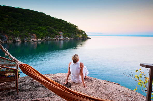 Mumbo Island relaxation in Malawi.