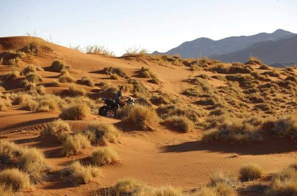 Explore the red sand dunes of the Namib Desert on a Quadbike.