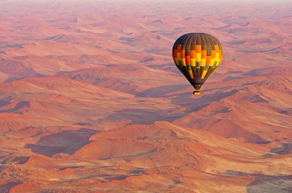 Balloon safari over the Namib Desert.