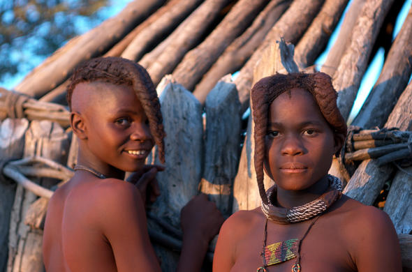 Girls of the Himba tribe in Namibia.