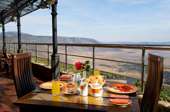 Breakfast at Ngorongoro Wildlife Lodge.